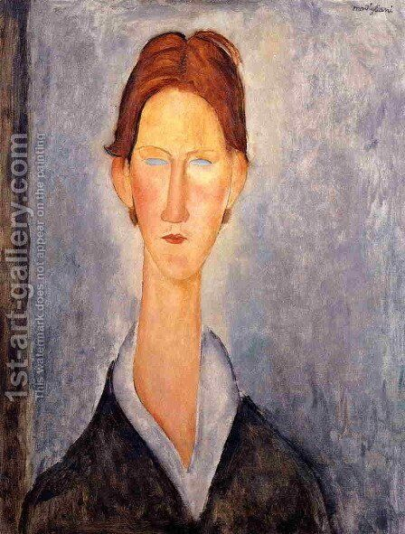 Young Man by Amedeo Modigliani - Reproduction Oil Painting
