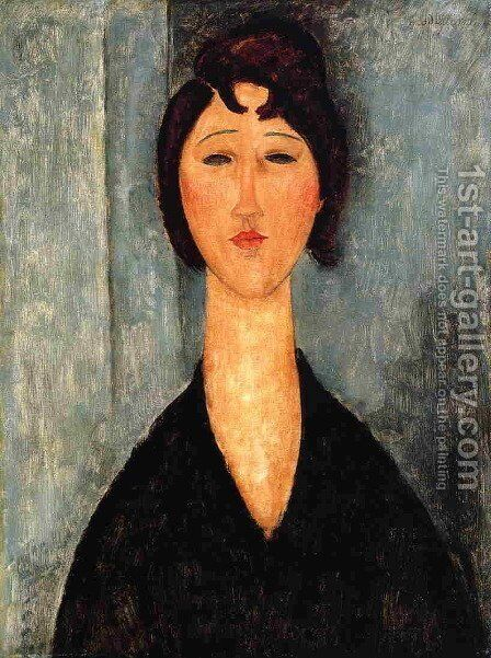 Portrait of a Young Woman I by Amedeo Modigliani - Reproduction Oil Painting