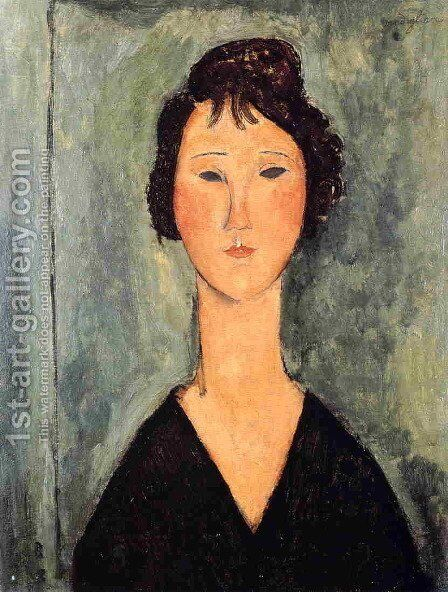 Portrait of a Woman IV by Amedeo Modigliani - Reproduction Oil Painting