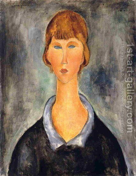 Portrait of a Young Woman II by Amedeo Modigliani - Reproduction Oil Painting