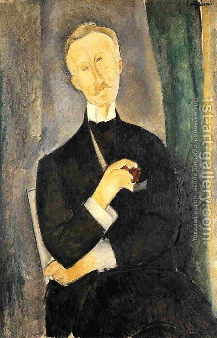 Roger Dutilleul by Amedeo Modigliani - Reproduction Oil Painting