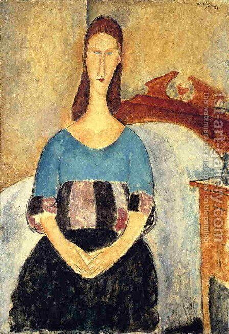 Jeanne Hebuterne III by Amedeo Modigliani - Reproduction Oil Painting