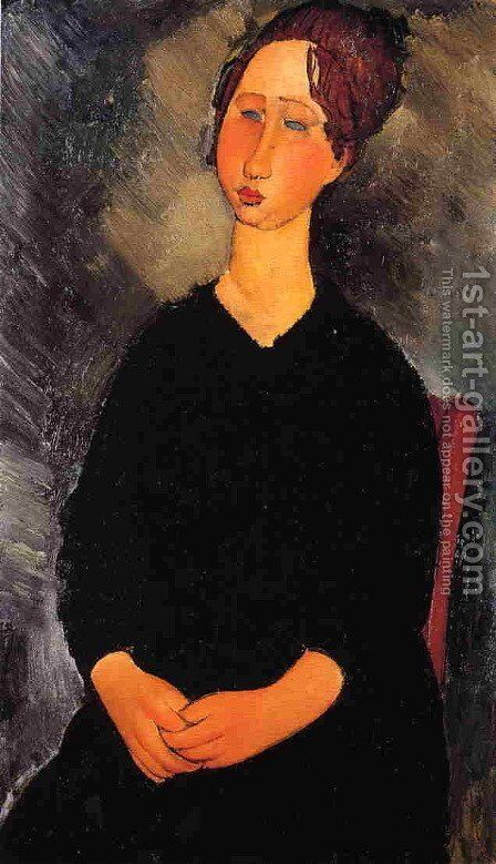 Little Serving Woman by Amedeo Modigliani - Reproduction Oil Painting