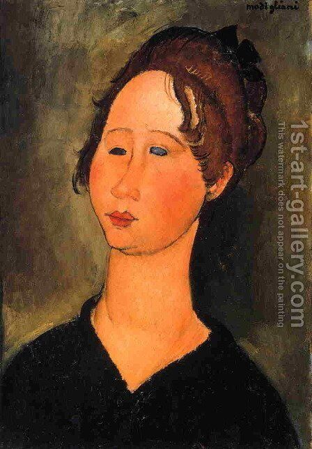 Burgundian Woman by Amedeo Modigliani - Reproduction Oil Painting