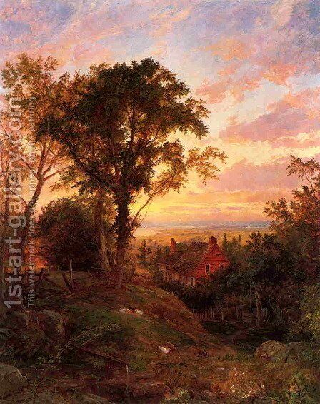 The Old Home by Jasper Francis Cropsey - Reproduction Oil Painting