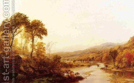Headwaters of the Hudson by Jasper Francis Cropsey - Reproduction Oil Painting