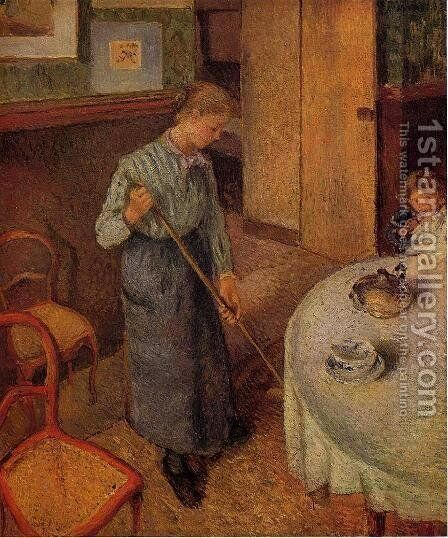 The Little Country Maid by Camille Pissarro - Reproduction Oil Painting