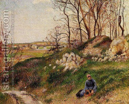 The Chou Quarries, Pontoise by Camille Pissarro - Reproduction Oil Painting