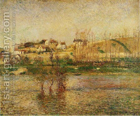 Flood in Pontoise by Camille Pissarro - Reproduction Oil Painting