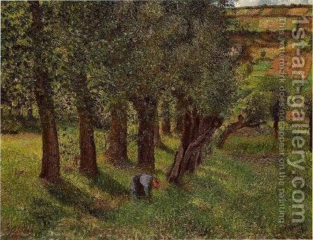 Le Chou a Pontoise by Camille Pissarro - Reproduction Oil Painting