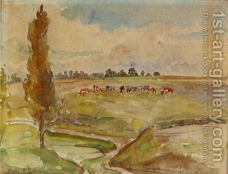 Landscape at Osny by Camille Pissarro - Reproduction Oil Painting