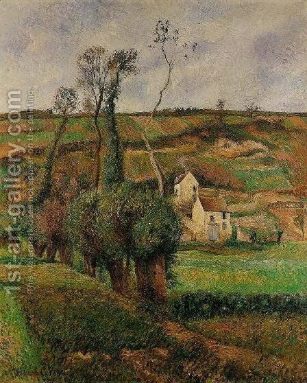 La Cote de 'Chou' a Pontoise by Camille Pissarro - Reproduction Oil Painting