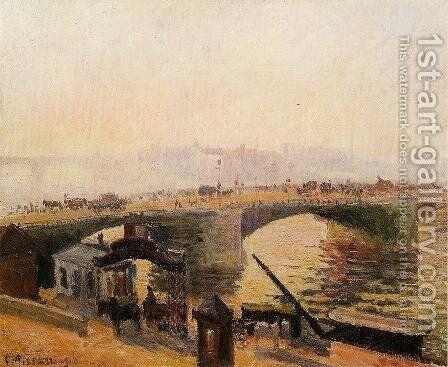 Fog, Morning, Rouen by Camille Pissarro - Reproduction Oil Painting