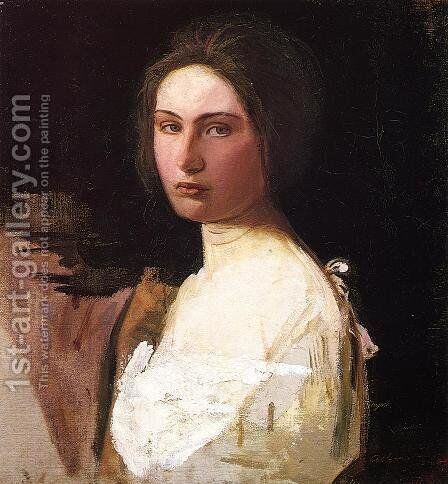 Study of Alma Wollerman by Abbott Handerson Thayer - Reproduction Oil Painting