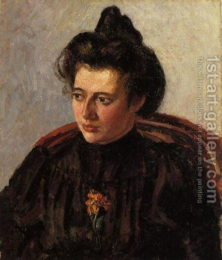 Portrait of Jeanne by Camille Pissarro - Reproduction Oil Painting
