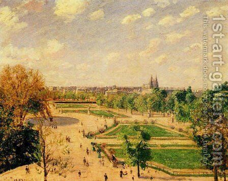 The Tuilleries Gardens: Morning, Spring, Sun by Camille Pissarro - Reproduction Oil Painting