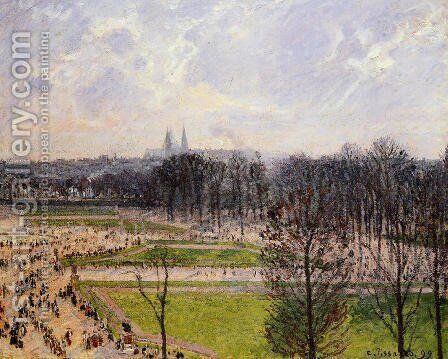 The Tuileries Gardens: Winter Afternoon by Camille Pissarro - Reproduction Oil Painting