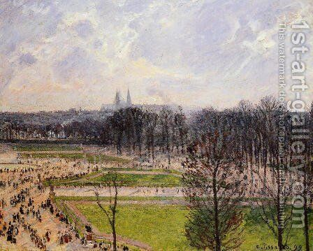 The Tuilleries Gardens: Winter Afternoon by Camille Pissarro - Reproduction Oil Painting
