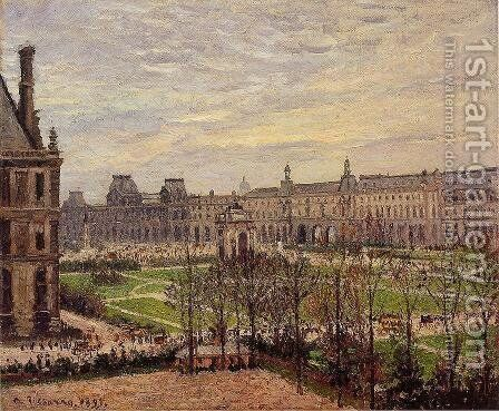 The Carrousel: Grey Weather by Camille Pissarro - Reproduction Oil Painting