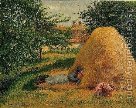 The Siesta by Camille Pissarro - Reproduction Oil Painting