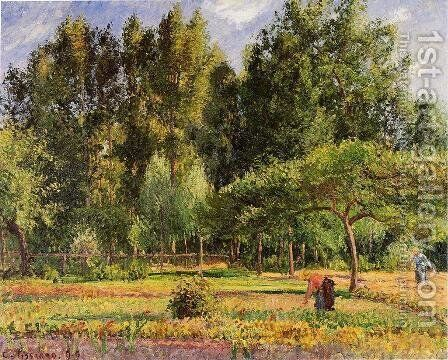Poplars, Afternoon in Eragny by Camille Pissarro - Reproduction Oil Painting