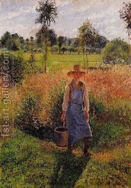 The Gardener, Afternoon Sun, Eragny by Camille Pissarro - Reproduction Oil Painting