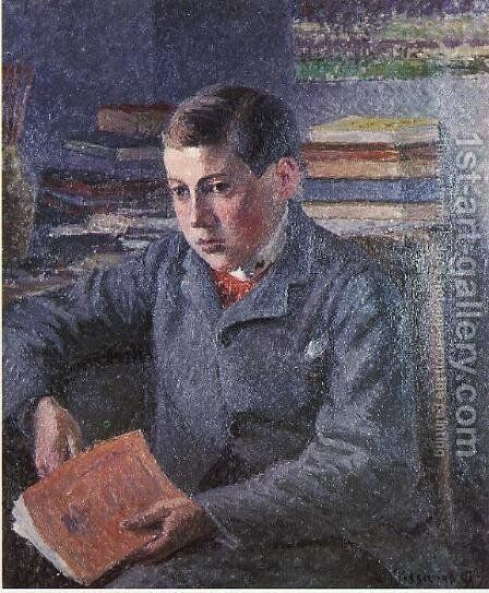Portrait of Paulemile by Camille Pissarro - Reproduction Oil Painting