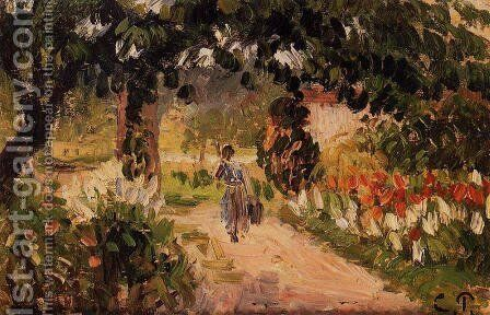 Garden at Eragny by Camille Pissarro - Reproduction Oil Painting