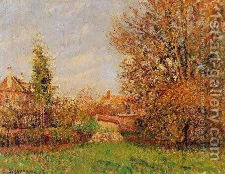Autunm in Eragny by Camille Pissarro - Reproduction Oil Painting