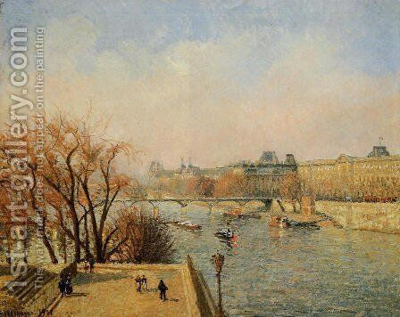 The Louvre: Morning, Sun by Camille Pissarro - Reproduction Oil Painting
