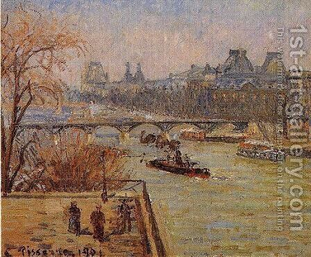 The Louvre II by Camille Pissarro - Reproduction Oil Painting