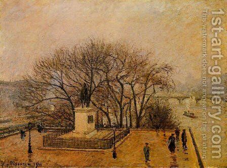 The Pont-Neuf, Statue of Henri IV: Mist by Camille Pissarro - Reproduction Oil Painting