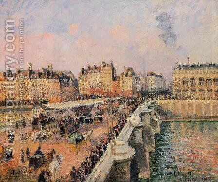 The Pont-Neuf: Afternoon Sun by Camille Pissarro - Reproduction Oil Painting
