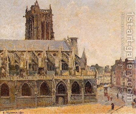 The Church of Saint-Jacques, Dieppe by Camille Pissarro - Reproduction Oil Painting