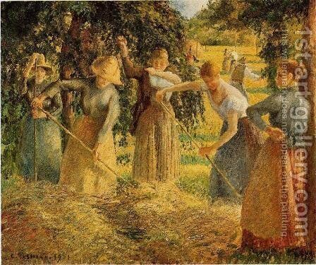 Harvest at Eragny by Camille Pissarro - Reproduction Oil Painting