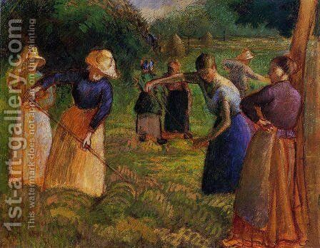 Haymaking in Eragny by Camille Pissarro - Reproduction Oil Painting