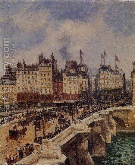 Le Pont-Neuf by Camille Pissarro - Reproduction Oil Painting