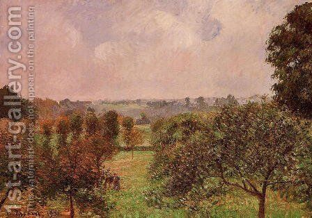 After the Rain, Autumn, Eragny by Camille Pissarro - Reproduction Oil Painting