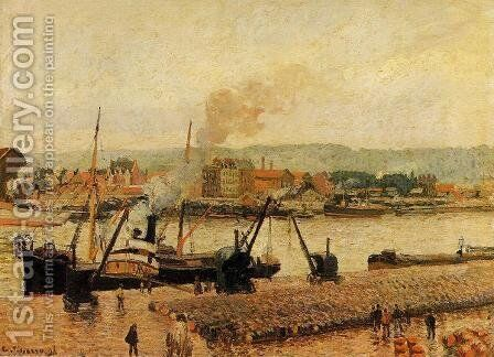 Morning, after the Rain, Rouen by Camille Pissarro - Reproduction Oil Painting