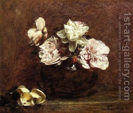 Roses de Nice by Ignace Henri Jean Fantin-Latour - Reproduction Oil Painting