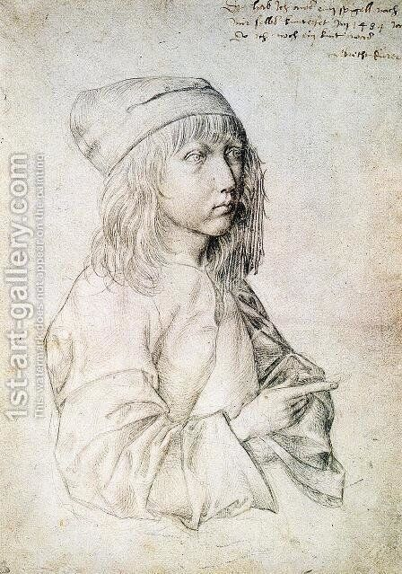 Self Portrait at 13 I by Albrecht Durer - Reproduction Oil Painting