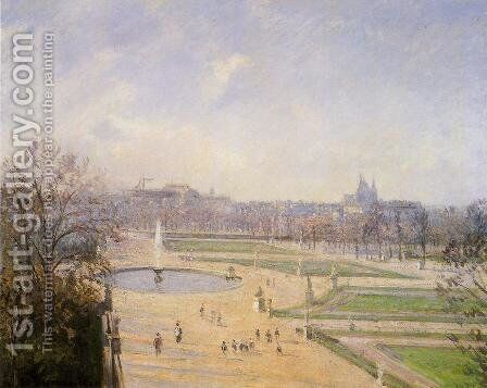 The Bassin des Tuileries: Afternoon, Sun by Camille Pissarro - Reproduction Oil Painting