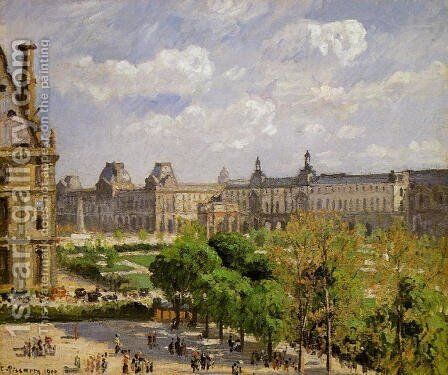 Place du Carrousel, the Tuileries Gardens by Camille Pissarro - Reproduction Oil Painting