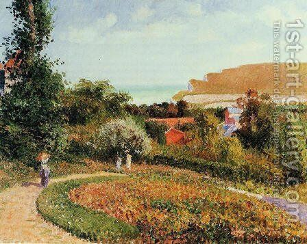 The Garden of the Hotel Berneval by Camille Pissarro - Reproduction Oil Painting