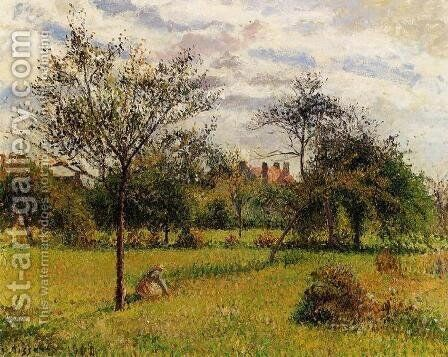 Morning, Autumn Sunlight, Eragny by Camille Pissarro - Reproduction Oil Painting