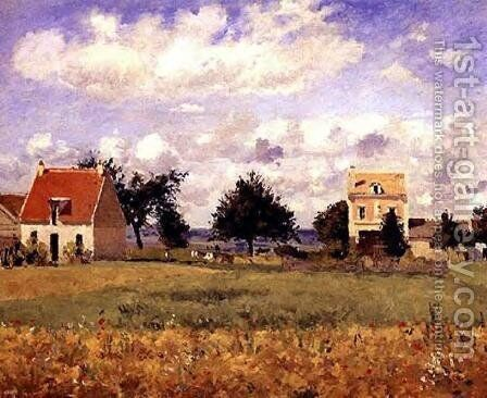 The Red House by Camille Pissarro - Reproduction Oil Painting