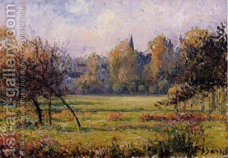 Landscape at Bazincourt by Camille Pissarro - Reproduction Oil Painting