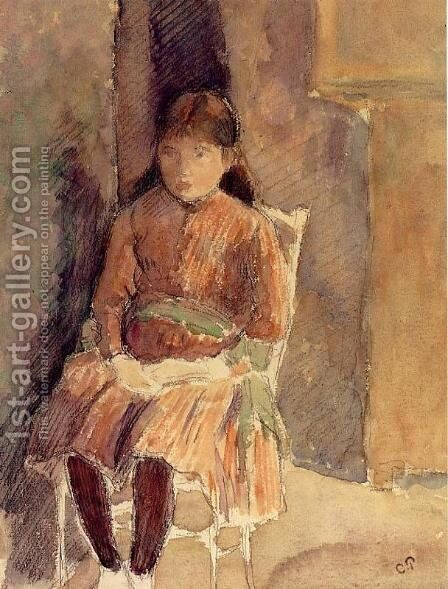 Portrait of Jeanne, the Artist's Daughter by Camille Pissarro - Reproduction Oil Painting