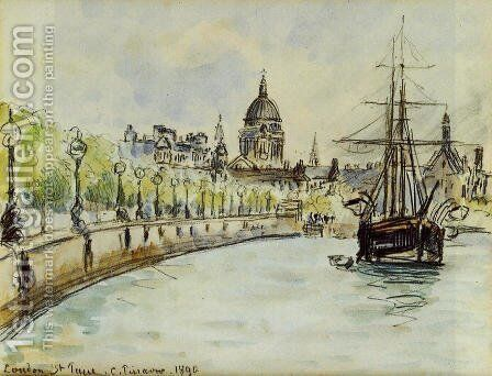 London, St. Paul's Cathedral by Camille Pissarro - Reproduction Oil Painting