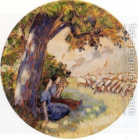 Pastoral by Camille Pissarro - Reproduction Oil Painting